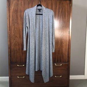 WHBM Duster Sweater - cozy soft! Heather gray Sz S